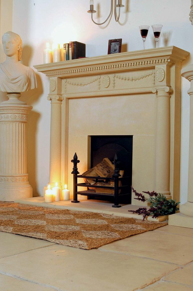 Keep Warm All Year Round With A Cast Stone Fireplace