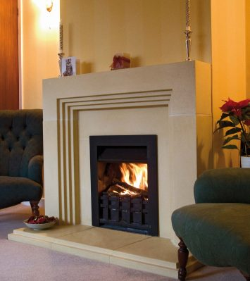 Deco Fireplace rebated including Slips and Hearth