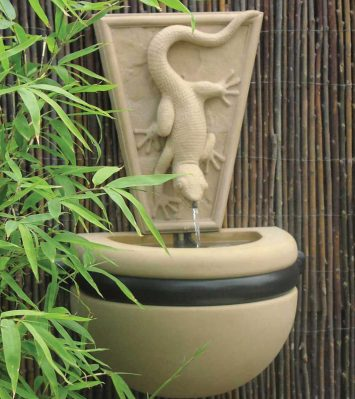 Gecko Bowl Fountain