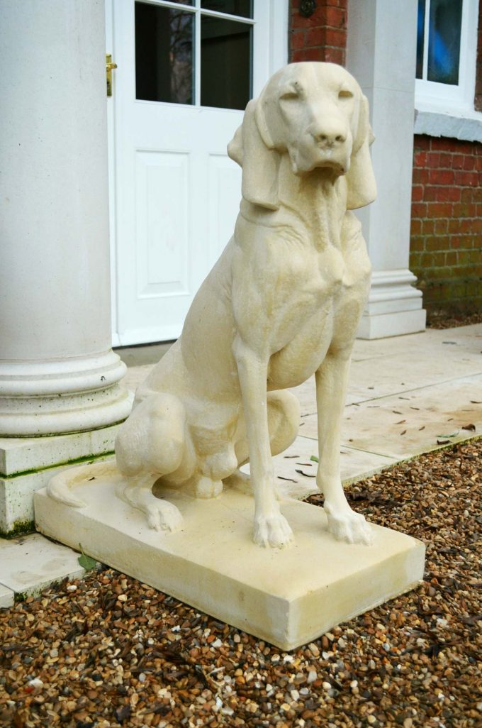 Jacquemart Hunting Dog statue (R/H)