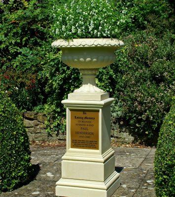 Memorial Vase and Pedestal