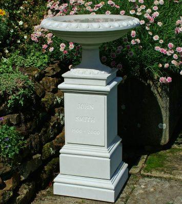 Memorial Bird Bath and Pedestal