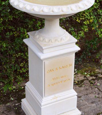 Personalised Bird Bath and Pedestal