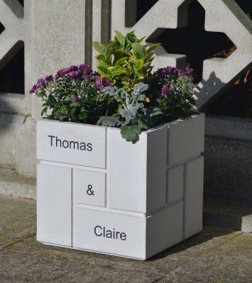 Personalised Block Planter
