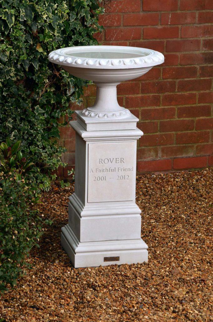 Pet Memorial Bird Bath & Pedestal