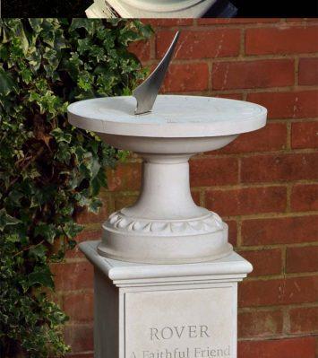 Pet Memorial Classical Sundial & Pedestal