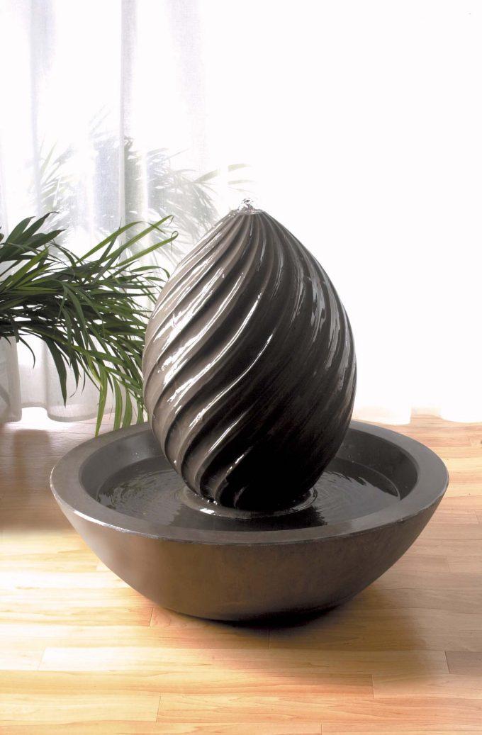Spiral Egg Pebble Bowl Fountain