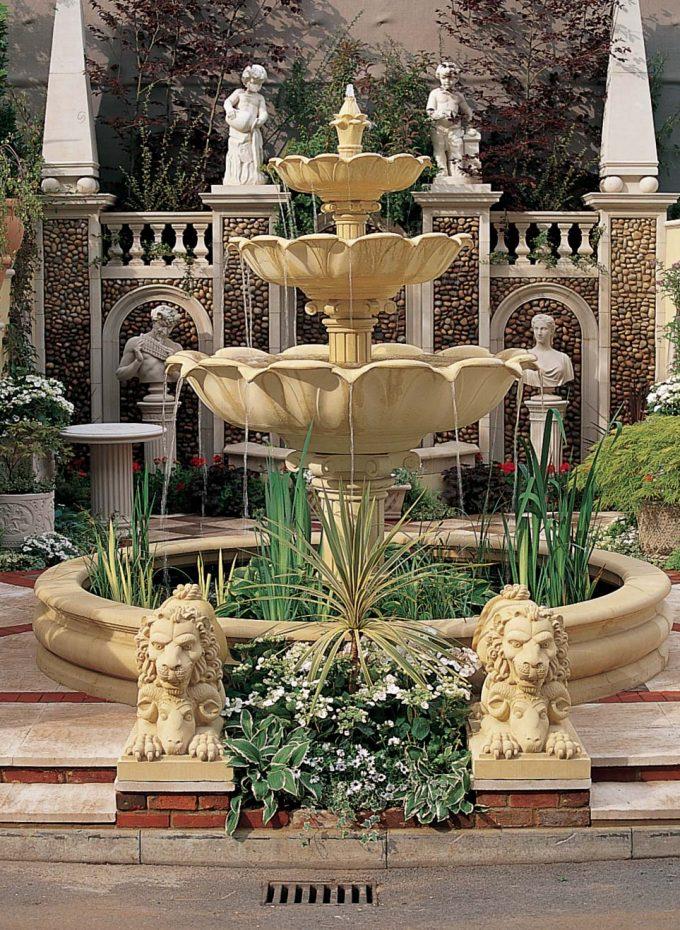 Triple Lotus Bowl Fountain
