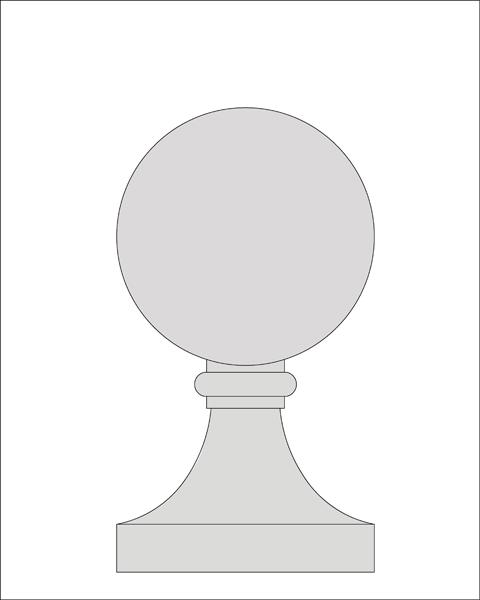17 inch Ball Finial