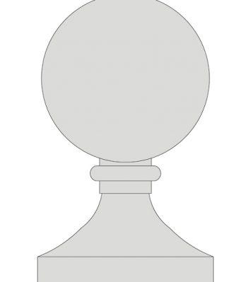 21 inch Ball Finial
