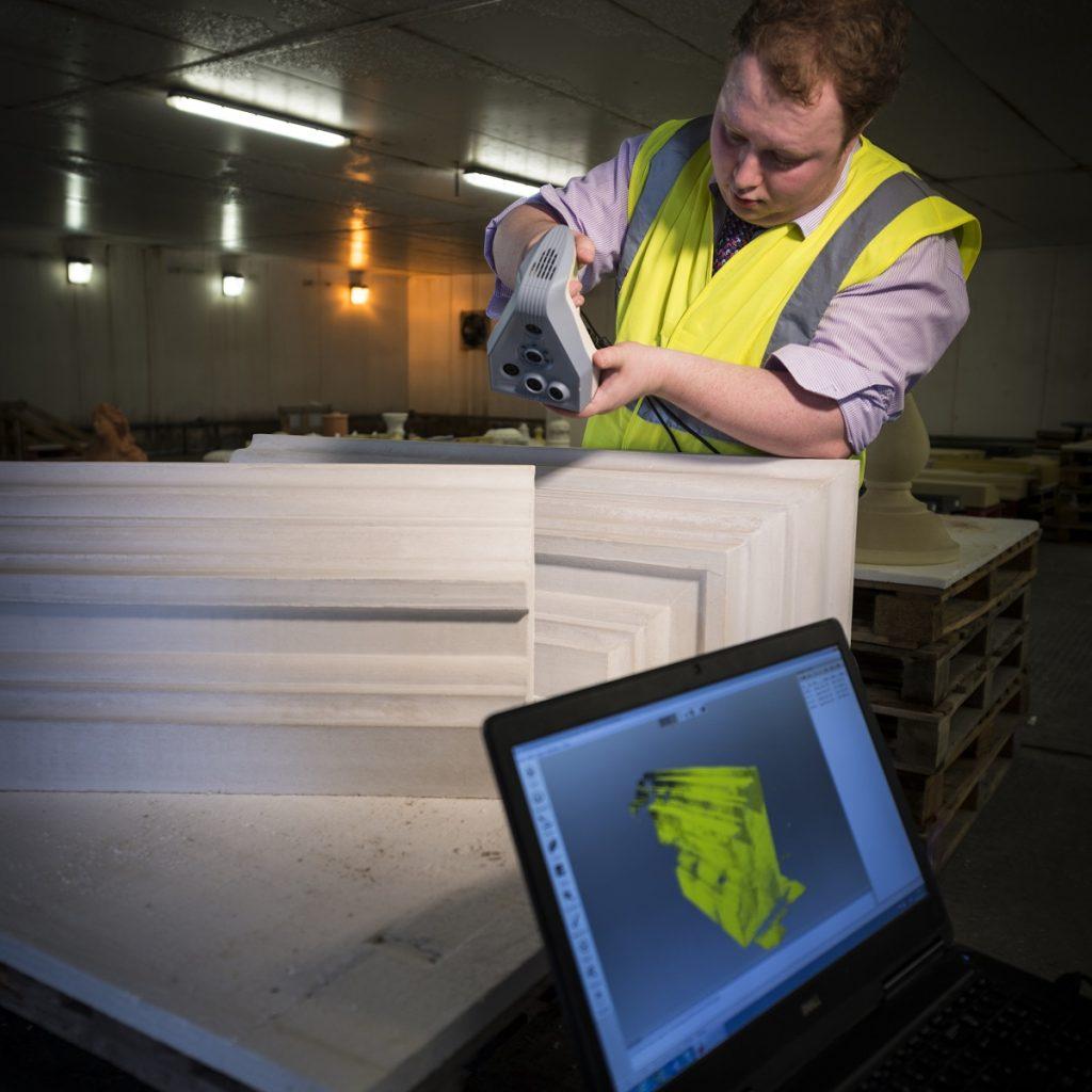 haddonstone colleague 3D scanning