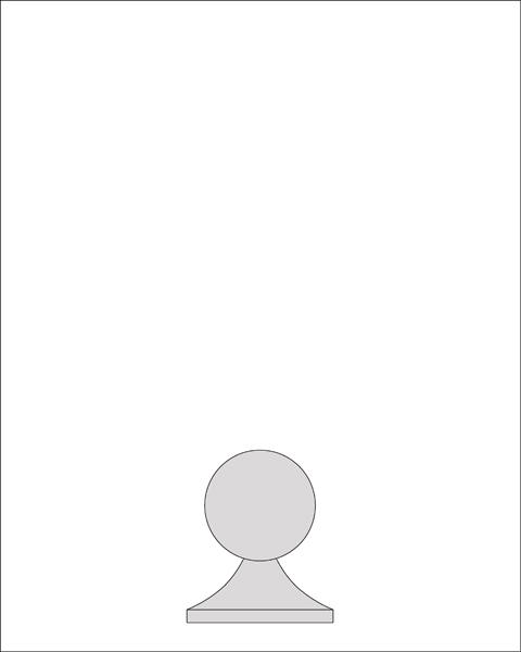 6 3/4 inch Ball Finial