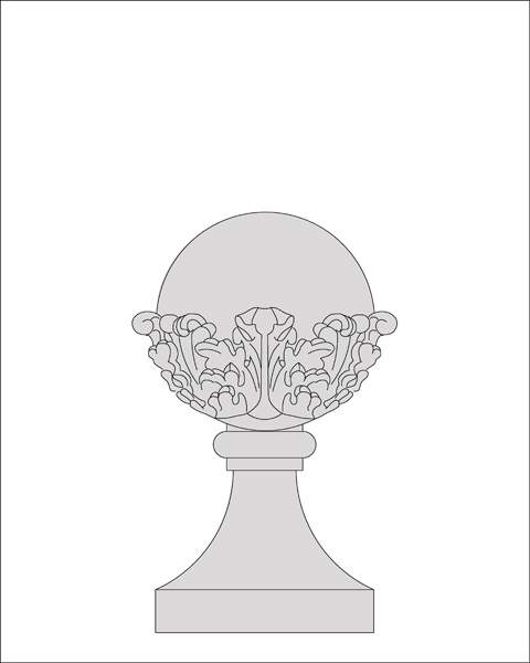 Acanthus-Leaf Ball and Collared Base
