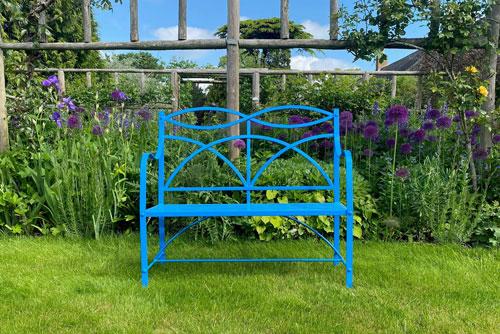 Blue custom bench