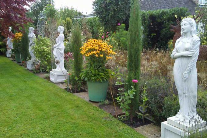 Seasons statues