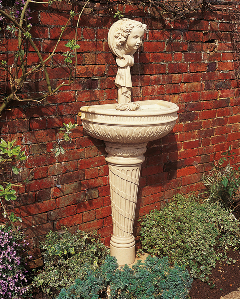 Haddonstone Wall Fountain with Pedestal