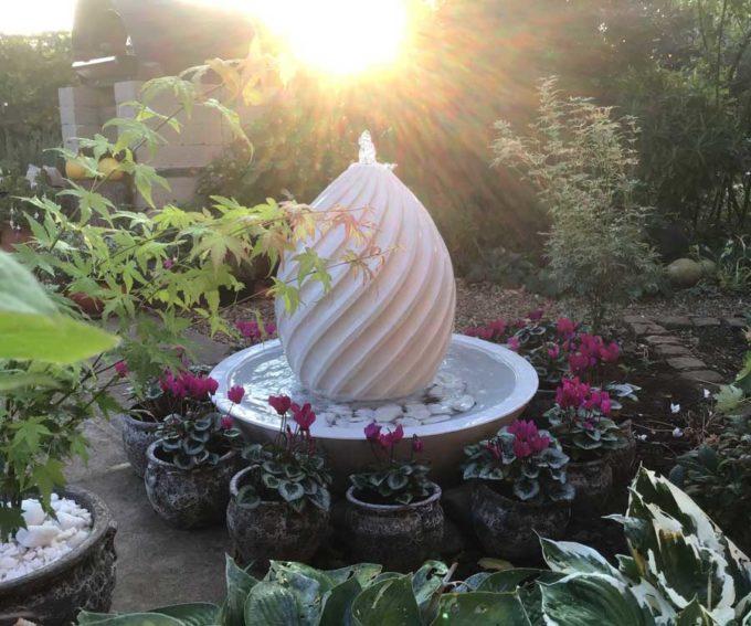 Spiral Egg Bowl Fountain