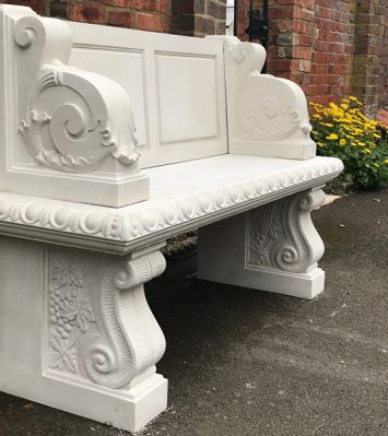 Hadrian Seat with Scrolled Supports