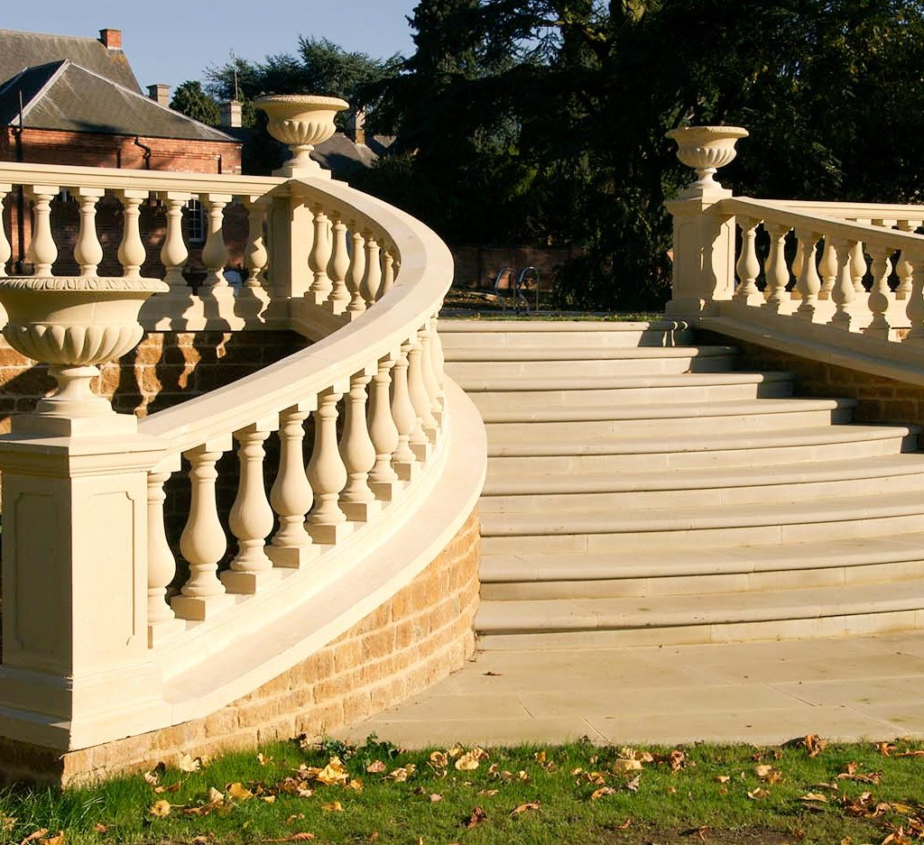 Haddonstone balustrading and steps