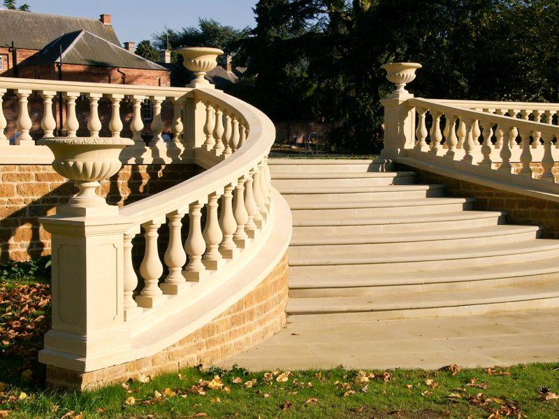 Haddonstone balustrading and steps