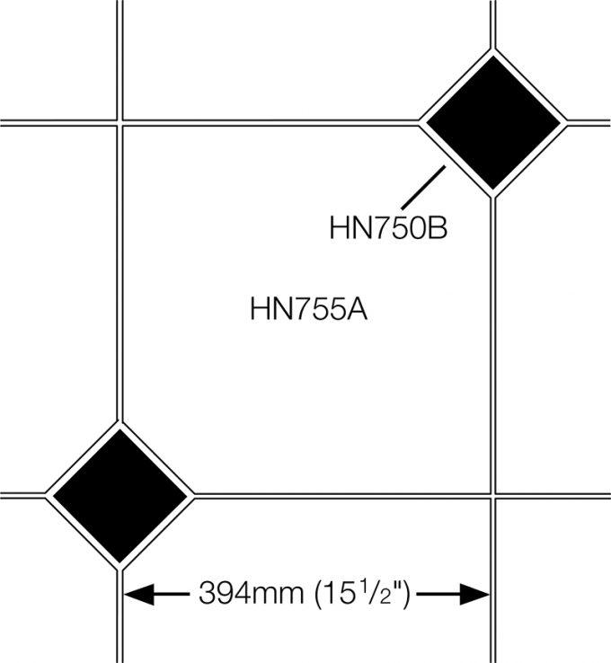 Orangery Floor Tile (2 corners) HN755A