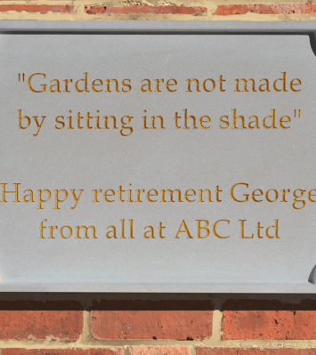 Personalised Stone Plaque - Face-Fixed