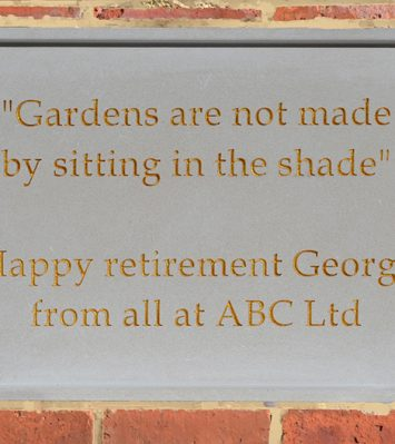 Personalised Stone Plaque - Built-In