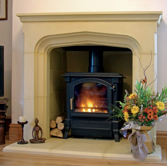 Tall Manor Fireplace Plain including Hearth