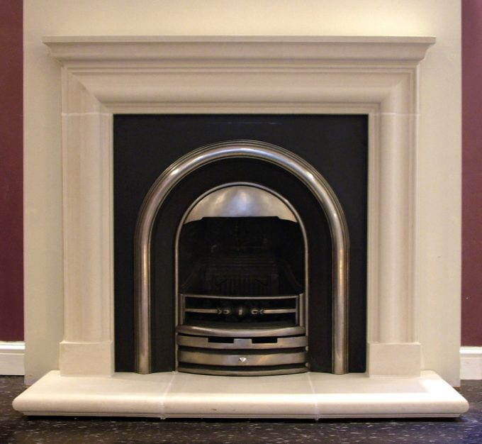 Vanbrugh Fireplace (with small mantel) no slip rebates including Hearth