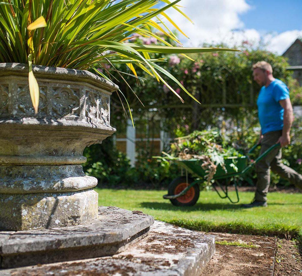 a gardener working outdoors