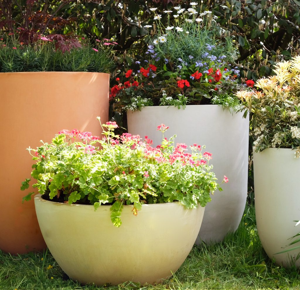 The Crucible Range photographed in the haddonstone show gardens