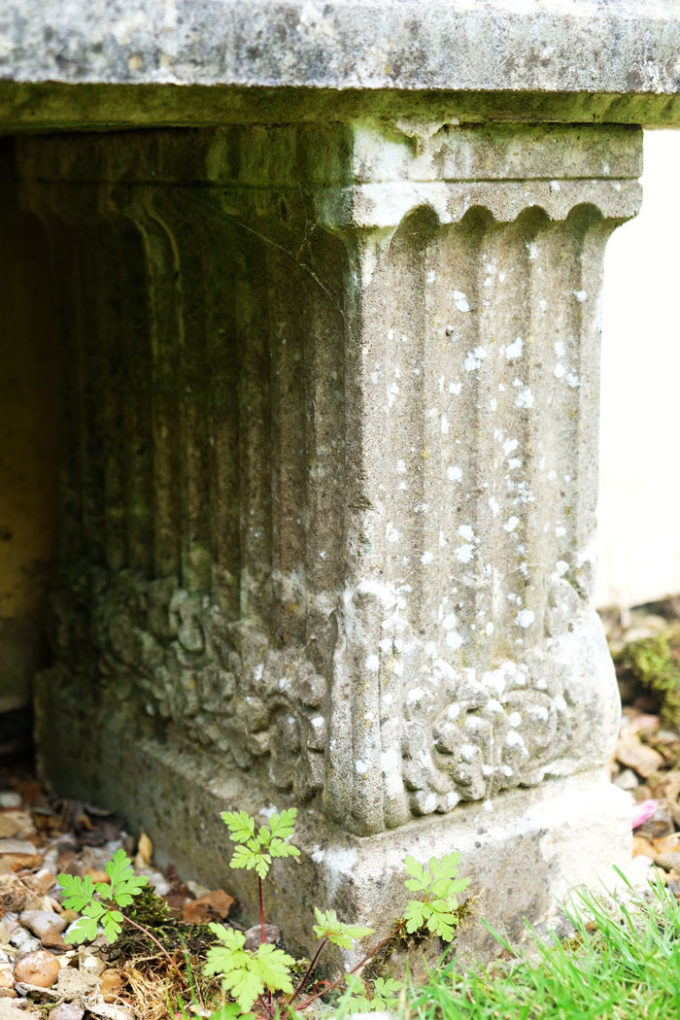 Venetian Trough and Two Fluted Supports, Portland (weathered)