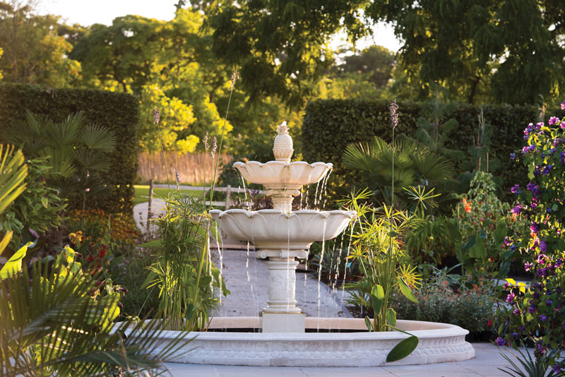 wisley fountain, example of a centrepiece fountain