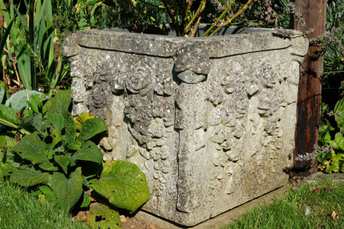 Pair of Haddonstone Boxes, Portland (weathered)