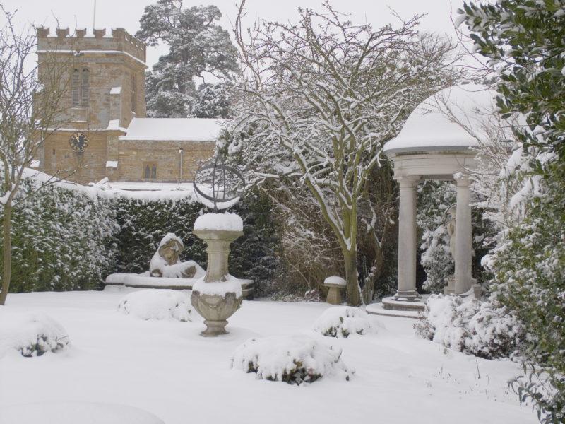 Haddonstone designs in the snow