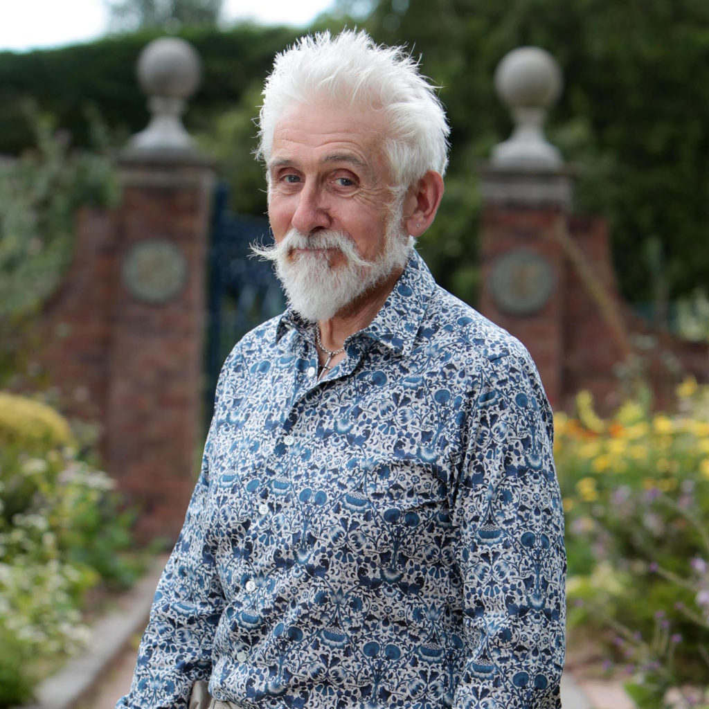 Sir Roy Strong photographed at The Laskett Gardens