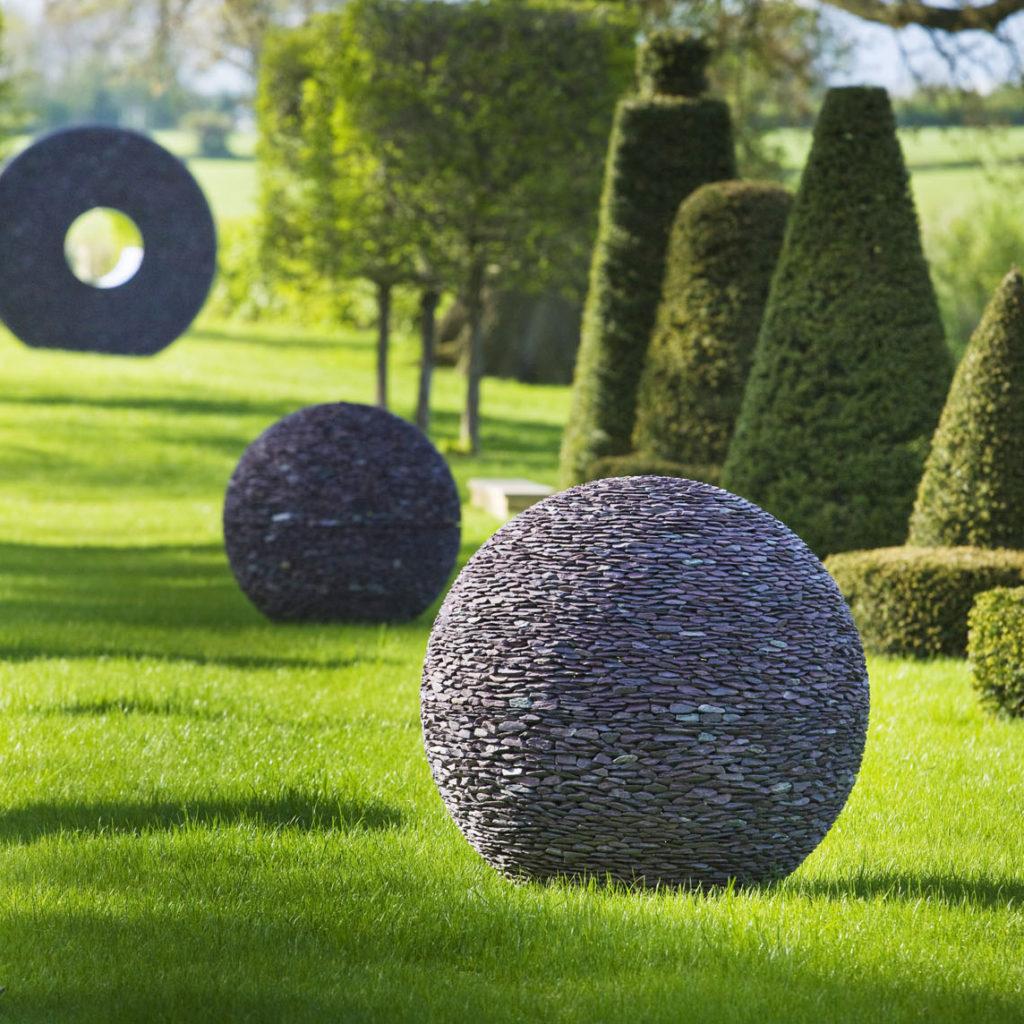 david harber sculptures in garden