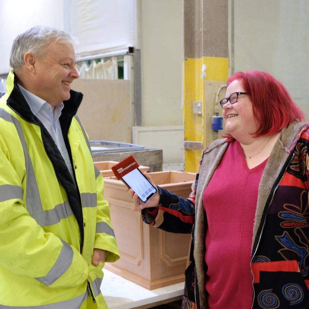helen blaby interviews david barrow for bbc radio northampton