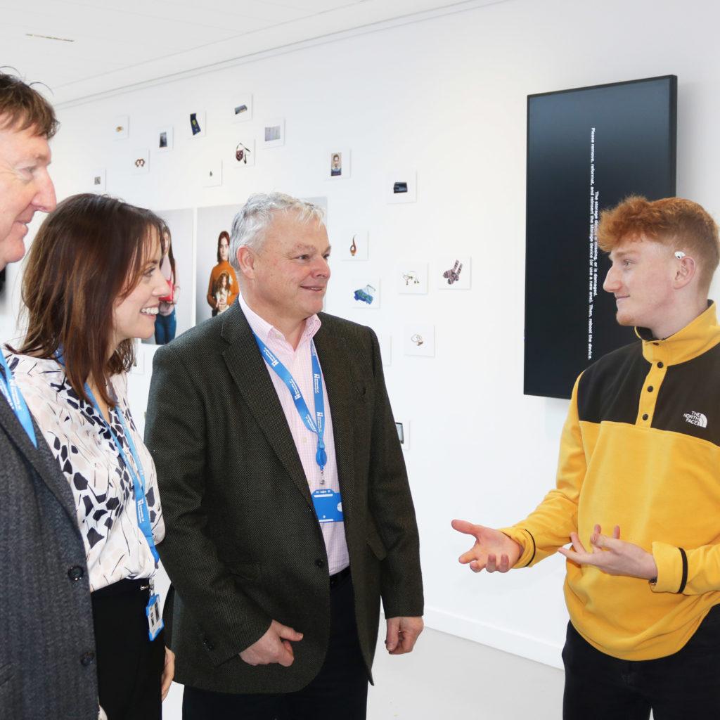 University of Northampton BSc Product Design student Jack Wisbey talks to the Haddonstone team.