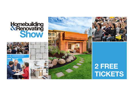 free tickets homebuilding and renovating show