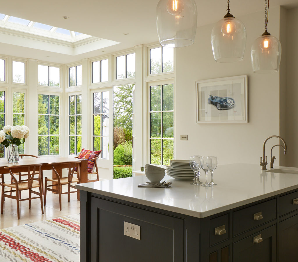 Image of a Westbury Garden Room open plan kitchen and dining area in Norwich