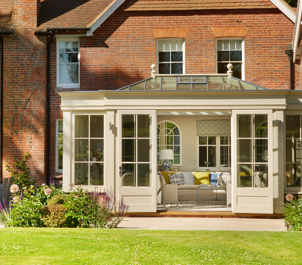 Image of a Westbury Garden Room orangery as part of a Victorian extension