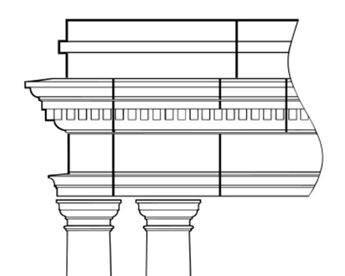 portico entablature