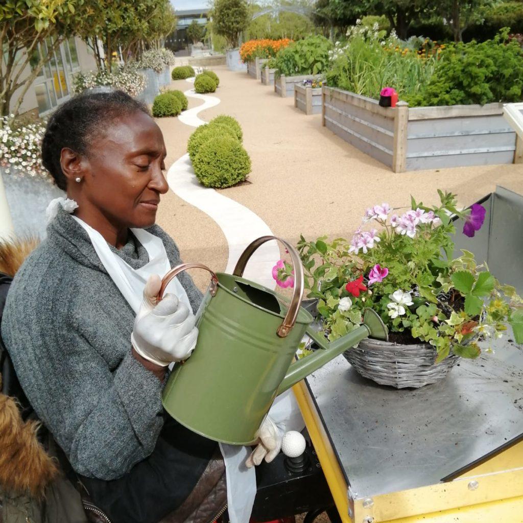 Service user at Horatio's Garden