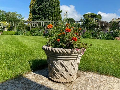 Small Tudor Jardiniere weathered