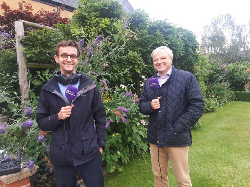 David Barrow and BBC Radio Northampton