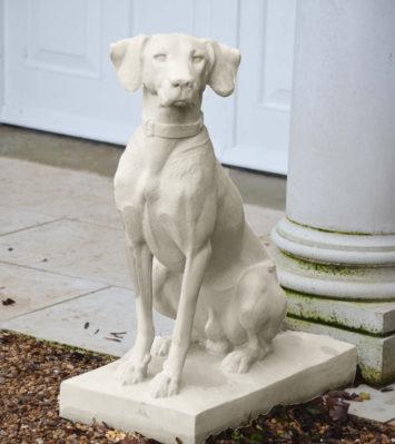 Jacquemart Hunting Dog statue (L/H)