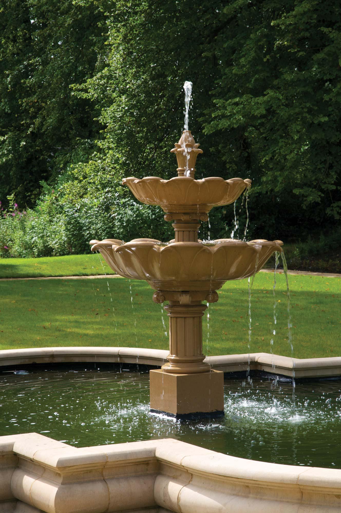 Double Lotus Fountain | Haddonstone USA