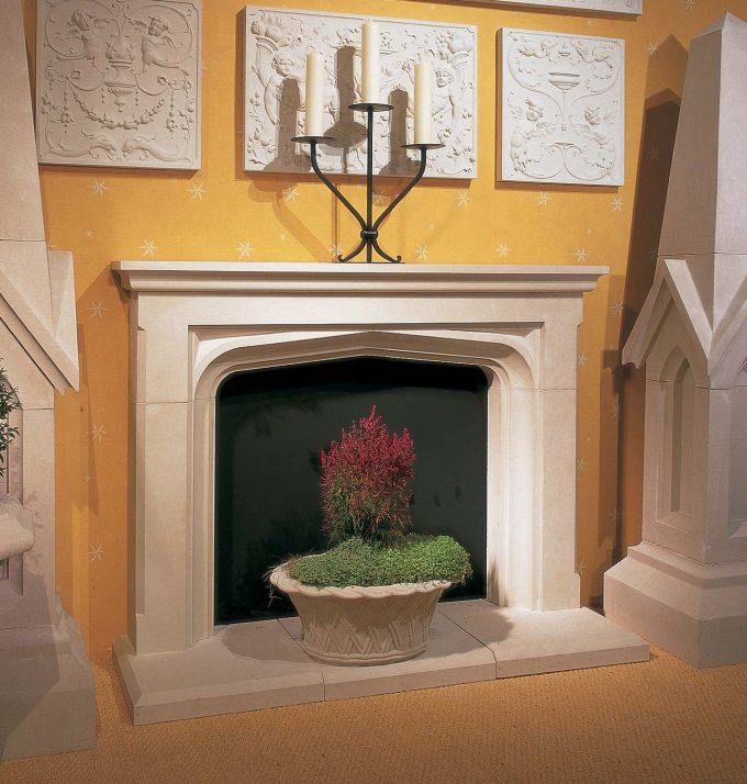 Manor Fireplace including Hearth