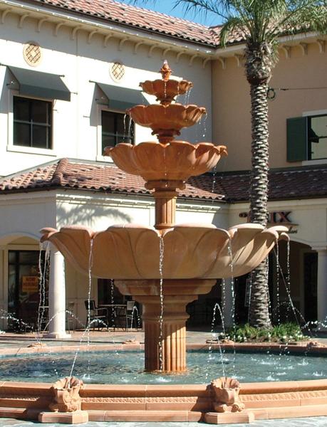 Quadruple Lotus Bowl Fountain